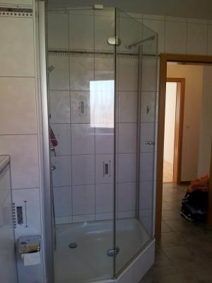 Dusche mit Glaskabine